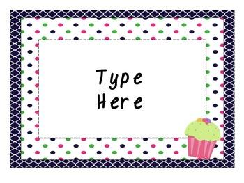 Cupcake Behavior Chart and classroom signs - Editable!