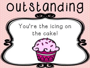Cupcake Behaviour Management Chart