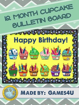 Cupcake Birthday Bulletin Board