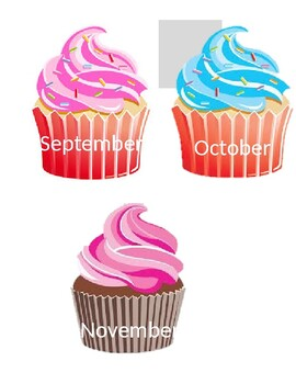 Cupcake Birthday Calendar