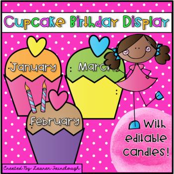 Cupcake Birthday Display