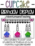 Cupcake Birthday Display Bulletin Board