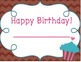 Cupcake Birthday Pack (Poster and Certificates)