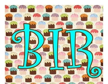 Birthday Pictograph - Cupcake