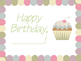 Cupcake Birthday Posters and Pencil Toppers