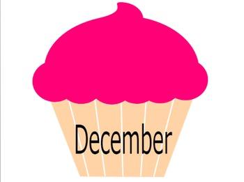 Cupcake Birthday Posters/Charts - Happy birthday!! start of the year