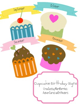 Cupcake Birthday Signs