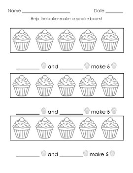 Cupcake Boxes - Combinations of 5 Practice