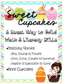 Sweet Cupcakes - Math & Literacy Activities