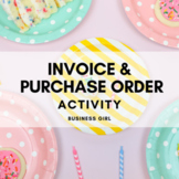 Cupcake Business Invoice and Purchase Order Practice Problems for Modeling