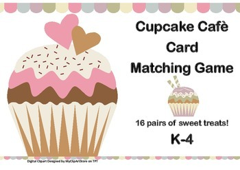 Cupcake Cafe - Sweet Treats Card Matching Game For K-4 Fun