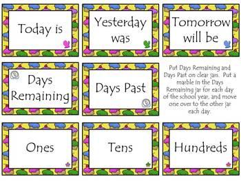 Cupcake Calendar Bulletin Board Set