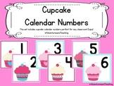 Cupcake Calendar Numbers {Pink and Teal}