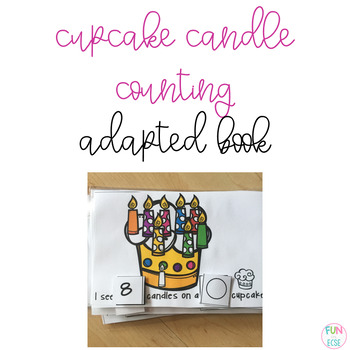 Cupcake Candle Counting Mini Adapted Book Freebie!