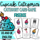 Cupcake Categories game for Speech Therapy- Free