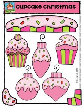Cupcake Christmas {P4 Clips Trioriginals Digital Clip Art}