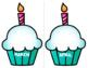 Cupcake Classroom Birthday Chart / Bulletin Board