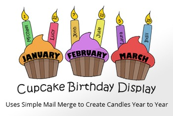 Cupcake Classroom Birthday Display