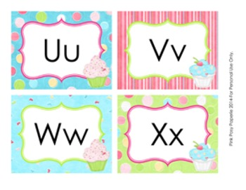 Cupcake Classroom Decor Word Wall Headers