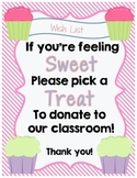 Cupcake Classroom Donations~For Open House or Back to School Night!