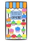 Cupcake Classroom Door Display