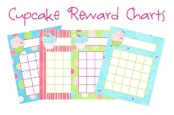 Cupcake Classroom Incentive Reward Charts