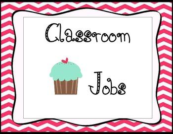 Cupcake Classroom Job
