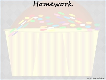 Cupcake Classroom Management Posters