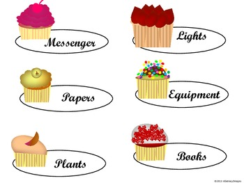 Cupcake Classroom Management Set