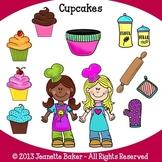 Cupcake Clip Art Freebie by Jeanette Baker