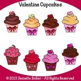 Cupcake Clip Art (Valentine) by Jeanette Baker