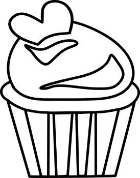 Cupcake - Clip art - Freebie!
