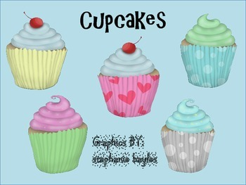 Cupcake Clipart: Clipart can be used as personal or commer