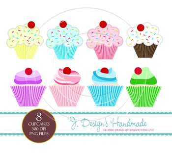 Cupcake Clipart - Commercial Use - Cupcakes - Cupcake Art - Cupcake Images