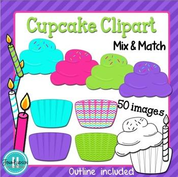 Cupcake Clipart: Mix & Match