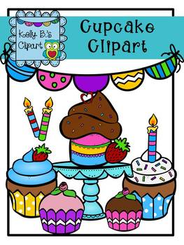 Cupcake Clipart by Kelly B.