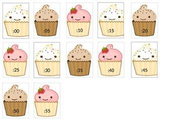 Cupcake Clock Labels