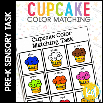 Cupcake Color Matching Folder Game for Early Childhood Spe
