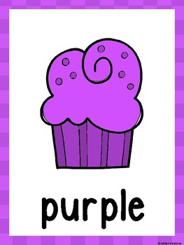 Cupcake Color Posters And Cards