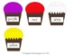 Cupcake Color Sight Word Match