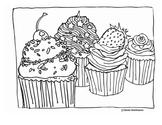 Cupcake Coloring Page