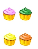 Cupcake Colors - a song and felt/flannel board set for preschool or Kg