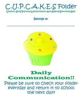 Cupcake Communication Folder