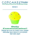 Cupcake Communication Folder