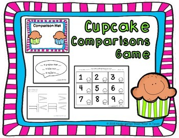 Cupcake Comparisons: Math Center {100 Followers Freebie}
