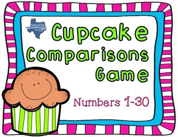 Cupcake Comparisons: Math Center {100 Followers Freebie}