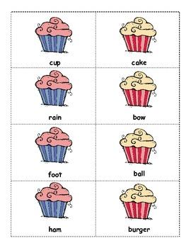 Cupcake Compound Words... A Literacy Center/Activity