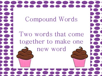 Cupcake Compound Words - Common Core!