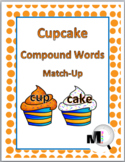 Compound Words Match-Up Activity - Cupcake Theme