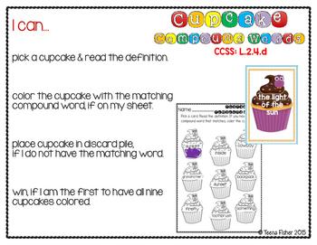 Cupcake Compound Words: Second Grade Wonders